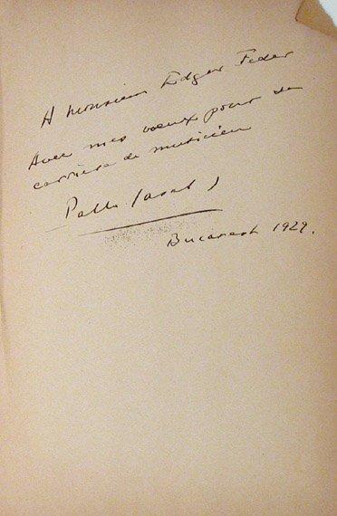 1002: CASALS, PABLO Autograph inscription