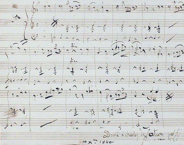 1007: DONIZETTI, GAETANO Autograph musical quotation