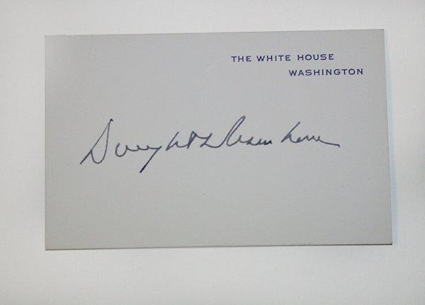 1008: EISENHOWER, DWIGHT D. Signature