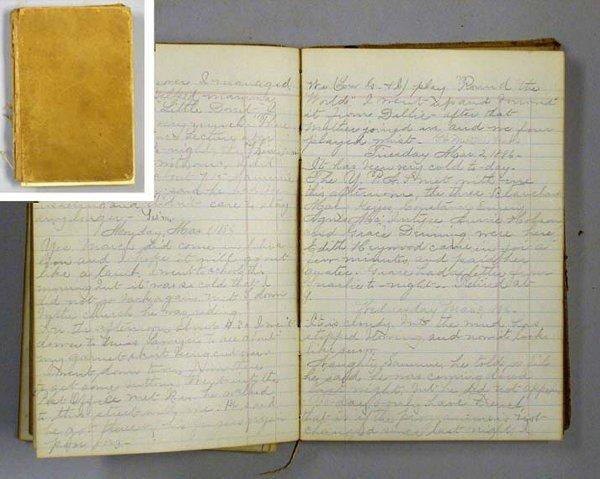 1009: EVERETT, FLORENCE E. Manuscript Diary.