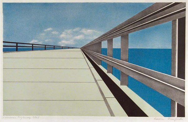 1195: Ralston Crawford OVERSEAS HIGHWAY Color lithograp