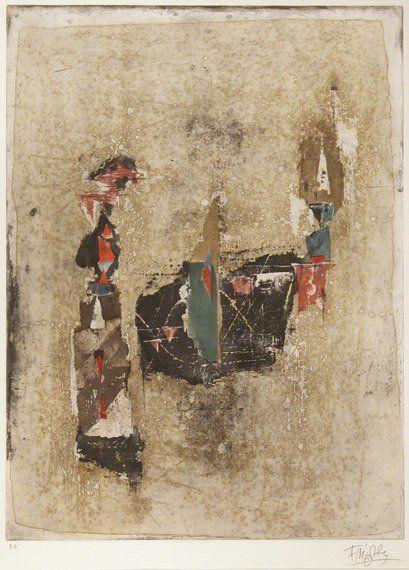 1207: Johnny Friedlaender LE MAI Color etching and aqua