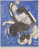 Hans Hofmann COMPOSITION IN BLUE Color screenprin