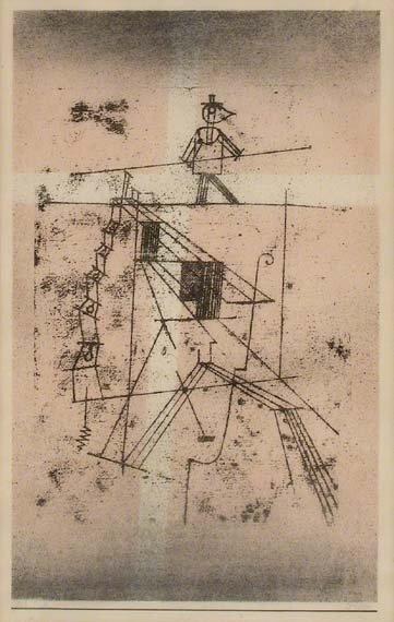 1246: Paul Klee DER SEILTANZER Color lithograph