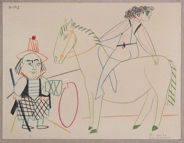 1295: After Pablo Picasso LE CIRQUE Color lithograph