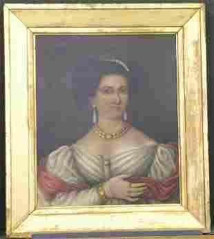 Daniel F. Ames Mid 19th Century PORTRAIT OF A LAD