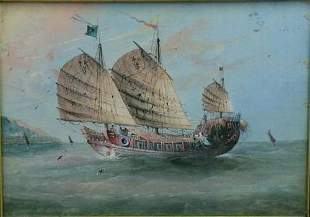 Chinese School 19th/20th Century A CHINESE JUNK