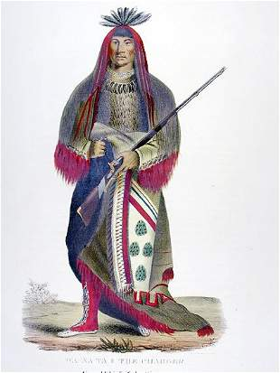 McKenney & Hall WA-NA-TA Hand-colored lithograph