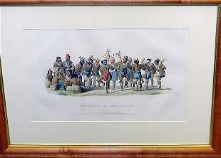 McKenney & Hall WAR DANCE OF THE SAUKS AND FOXES