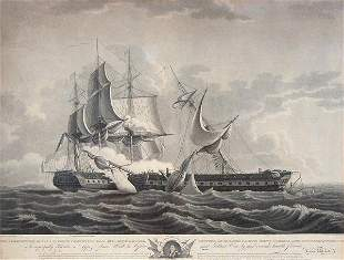After Thomas Birch U.S. FRIGATE CONSTITUTION...a