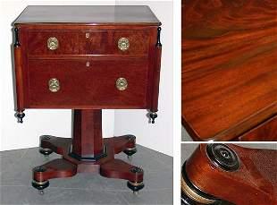 Classical Mahogany Part Ebonized Work Table