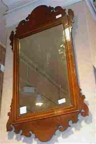 Georgian Style Mahogany Mirror