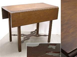 Chippendale Cherry Drop-Leaf Table