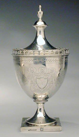 2189: Silver Covered Sugar Urn