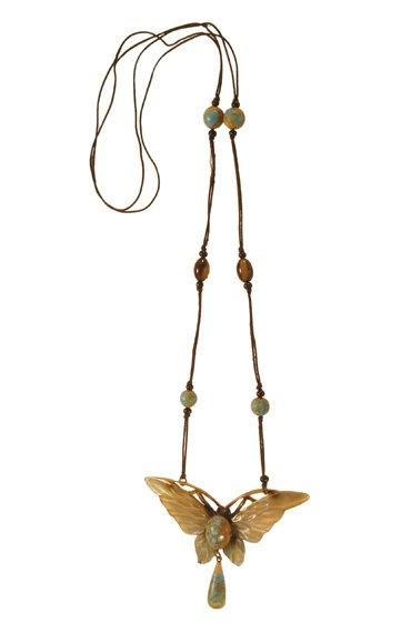 3004: Bonte Butterfly Pendant Necklace