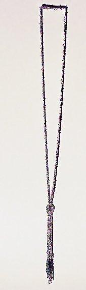 3013: Silver and Black Conterie Sautoir