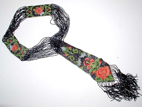 3014: Multicolored Conterie Necktie Necklace