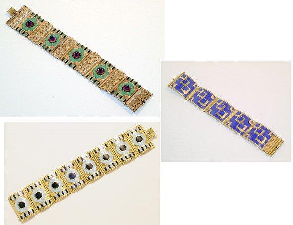 3017: Three Kollmar & Jourdan Bracelets