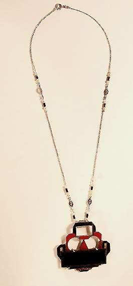 Necklace with Art Deco Pendant