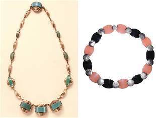 Henkel & Gross Galalith Necklace; Together with S