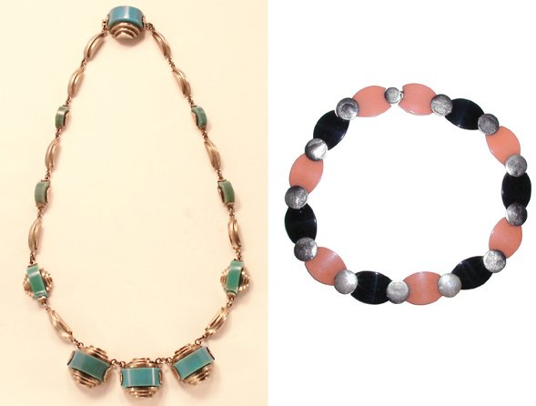 3021: Henkel & Gross Galalith Necklace; Together with S