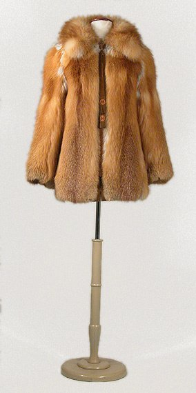 3579: Hermes Red Fox Fur Jacket