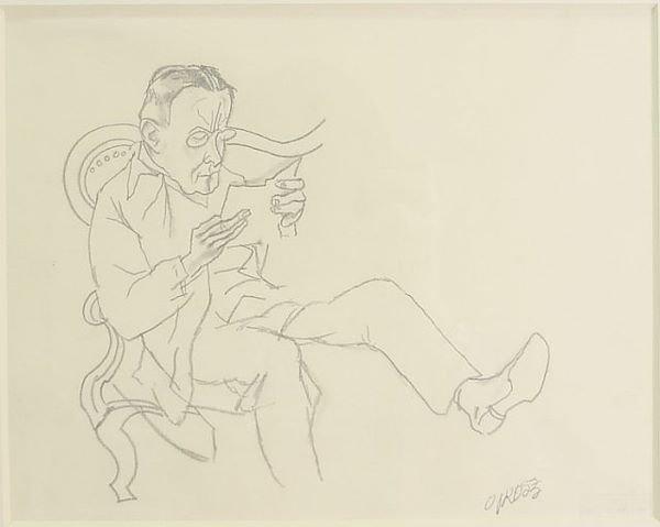 4: George Grosz German/American, 1893-1959 LESENDER MAN