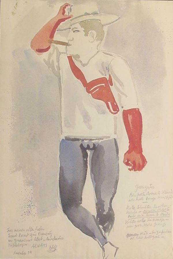 12: George Grosz German/American, 1893-1959 EIN AMERIKA
