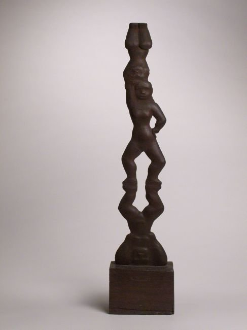 22: Chaim Gross, Three Figures in an Acrobatic Stance,