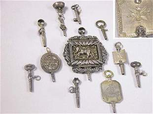 Group of Assorted Silver and Metal Watch Keys
