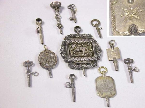 1001: Group of Assorted Silver and Metal Watch Keys