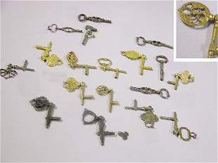 Group of Assorted Metal Watch Keys