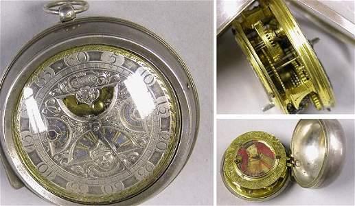 1041: Silver Pair Case Watch