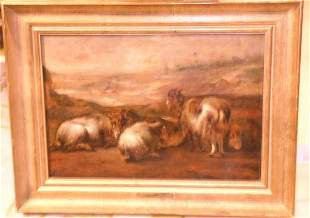 Manner of Aelbert Cuyp GOATS AND SHEEP AT REST IN