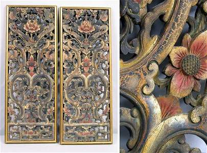 2451: Two Southeast Asian Carved and Polychrome Painted