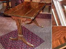 2559: Regency Style Brass Inlaid Rosewood Writing Table