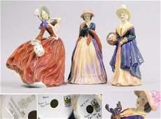 2828 Three English Porcelain Figures of Ladies
