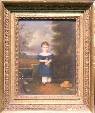 19th Century School PORTRAIT OF A YOUNG GIRL WITH HE
