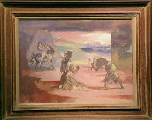 Raymond Breinin American, 1910-2000 BEACH SCENE