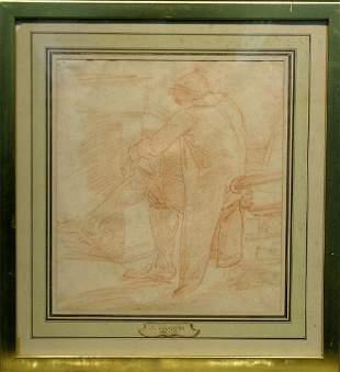Follower of Jean-Baptiste Chardin MAN SEATED BEFO