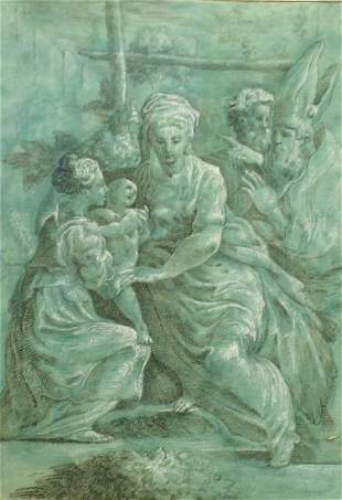 Manner of Parmigianino HOLY FAMILY