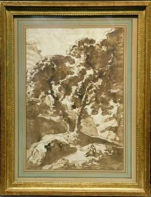 Circle of Remigio Cantagalina FIGURES UNDER TREES