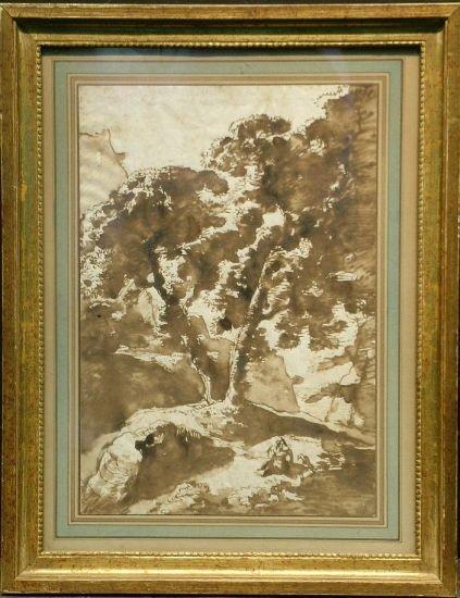 1017: Circle of Remigio Cantagalina FIGURES UNDER TREES