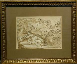 Italian School 18th Century APOLLO AND CORONIS (?