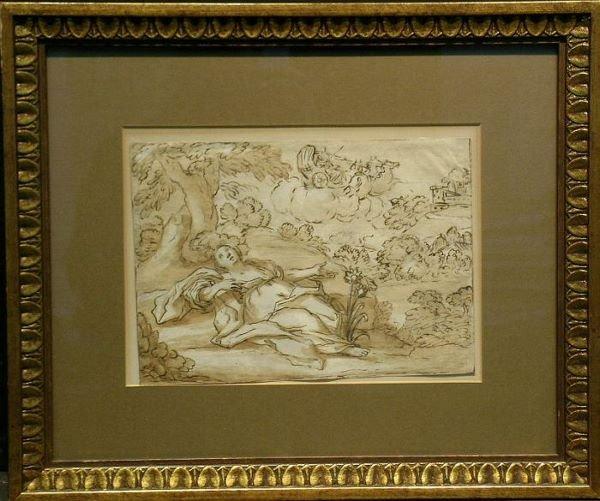1018: Italian School 18th Century APOLLO AND CORONIS (?