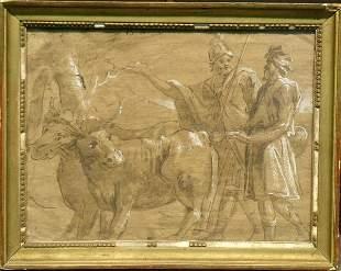 Italian School 18th Century ROMANS WITH COWS