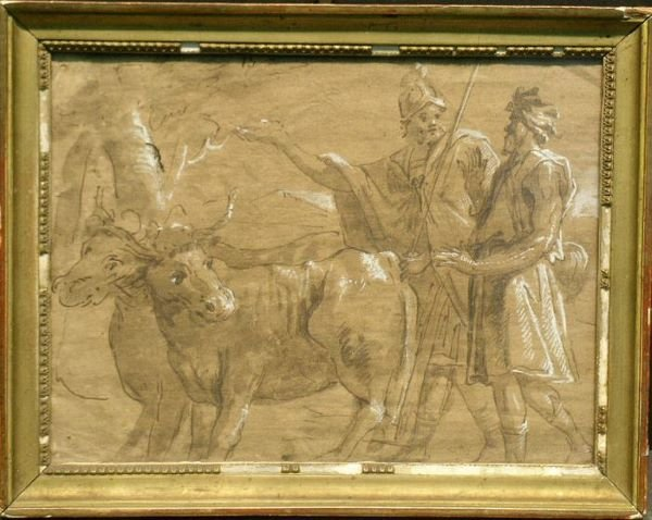 1019: Italian School 18th Century ROMANS WITH COWS
