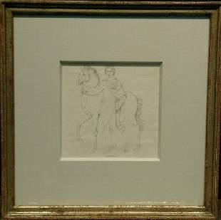 Attributed to Filippo Bigioli CASTOR WITH HORSE,