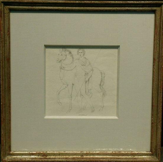 1020: Attributed to Filippo Bigioli CASTOR WITH HORSE,
