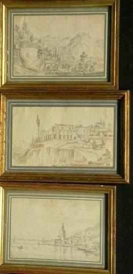 Italian School 18th/19th Century LANDSCAPES: THRE